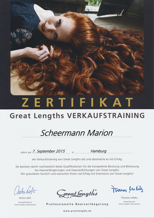 Zertifikat Marion Scheermann